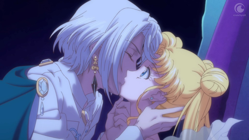 Sailor Moon Crystal Act 21 - Prince Demande kisses Neo Queen Serenity