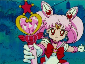Sailor Moon S episode 103 - Sailor Chibi Moon and her Pink Moon Stick
