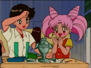 Sailor Moon S episode 107 - Masanori and Chibiusa make the Holy Grail