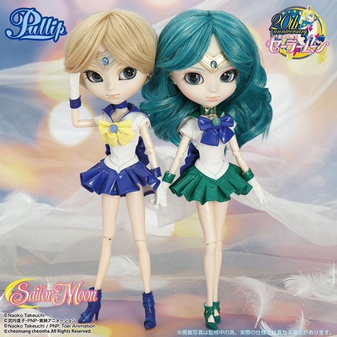 Sailor Uranus and Sailor Neptune Pullip dolls
