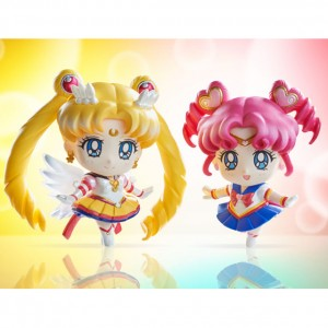 Eternal Sailor Moon and Sailor Chibi Chibi Petit Chara figures
