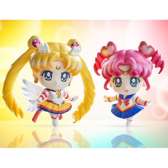 Eternal Sailor Moon and Sailor Chibi Chibi Petit Chara figures
