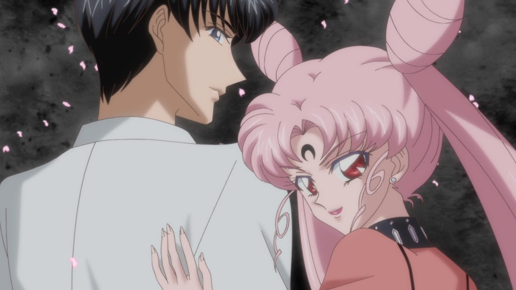 Sailor Moon Crystal Act 23 - Black Lady and a half dressed Mamoru