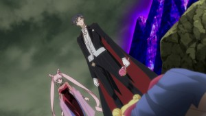 Sailor Moon Crystal Act 24 - Black Lady and Endymion watching over Sailor Moon