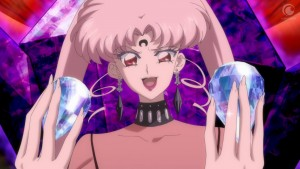 Sailor Moon Crystal Act 24 - Black Lady has both Silver Crystals