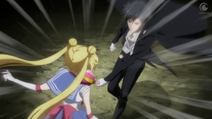 Sailor Moon Crystal Act 24 - Endymion attacks Sailor Moon with her Cutie Moon Rod