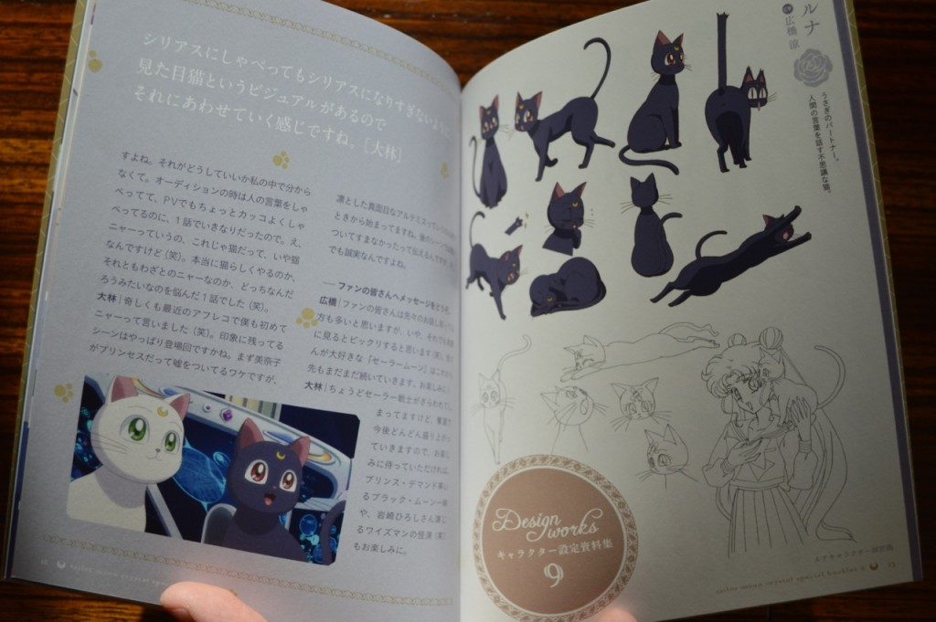 Sailor Moon Crystal Blu-Ray vol. 9 - Special Booklet - Pages 12 & 13 - Character designs