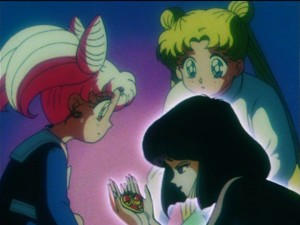 Sailor Moon S episode 113 - Hotaru wants to eat the Silver Crystal
