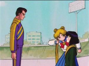 Sailor Moon S episode 117 - Hotaru meets Shun Hayase