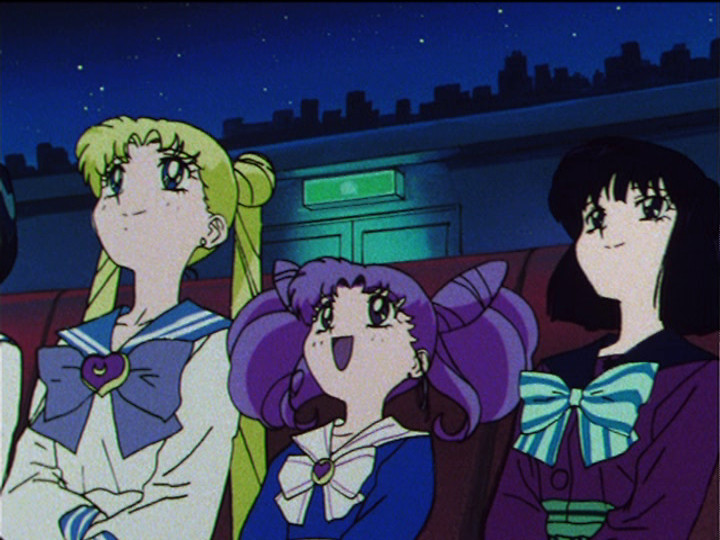 Sailor Moon S episode 119 - Usagi, Chibiusa and Hotaru at the Planetarium