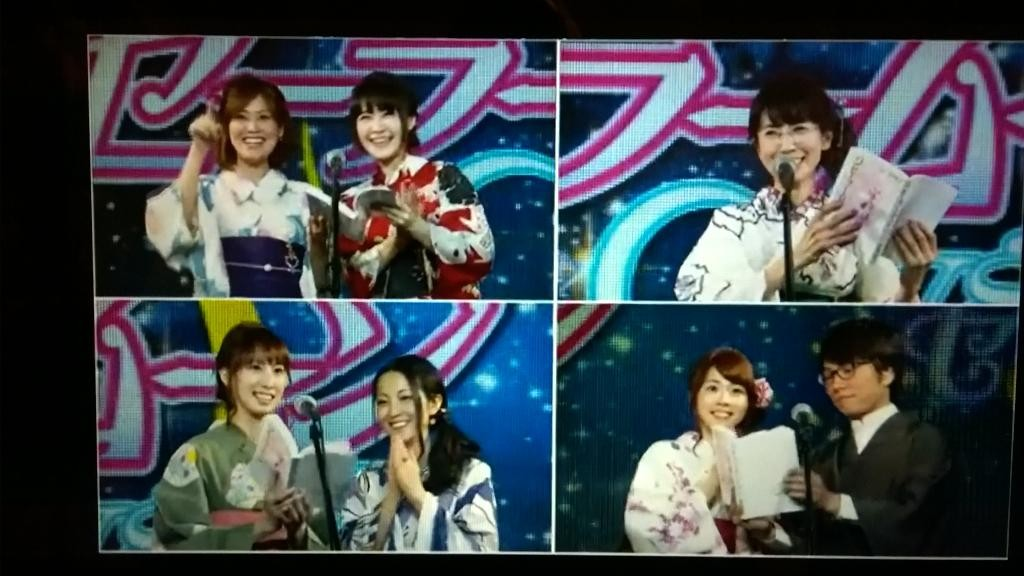 The cast of Sailor Moon Crystal reading the Sailor Moon manga at Usagi's birthday celebration