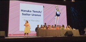 Erica Mendez as the voice of Sailor Uranus
