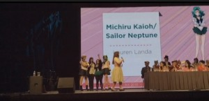 Lauren Landa as the voice of Sailor Neptune