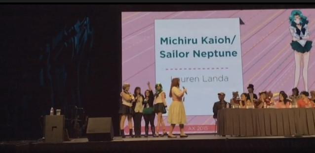 Lauren Landa as the voice of Sailor Neptune