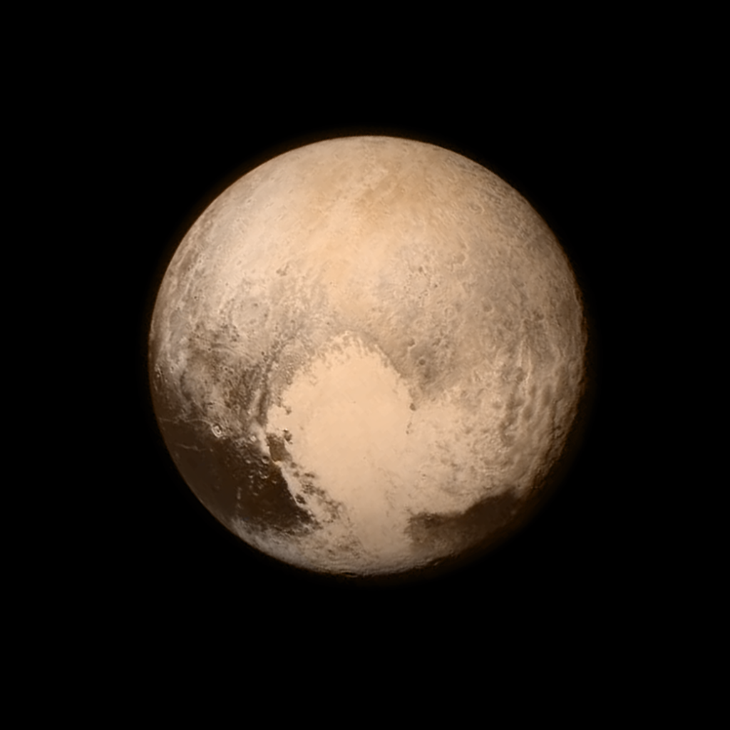 Pluto has a heart on it
