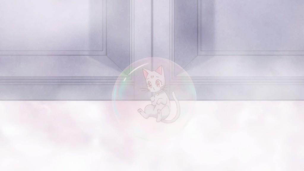 Sailor Moon Crystal Act 25 - Diana floats in a bubble
