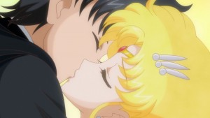 Sailor Moon Crystal Act 26 - Sailor Moon kisses Tuxedo Mask