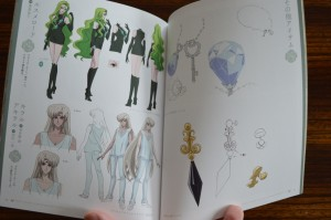 Sailor Moon Crystal Blu-Ray vol. 10 - Special Book - Pages 14 and 15 - Character art for Esmeraude, Chiral and Achiral