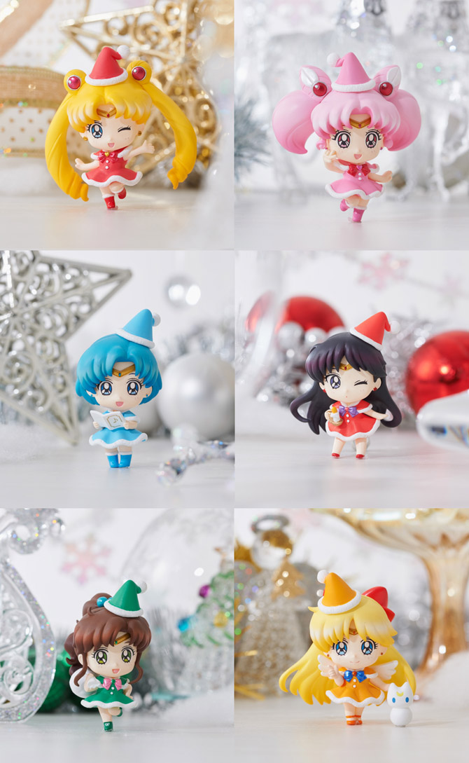 sailor moon petit chara christmas figures published july 30 2015 at 670 1089