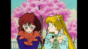Viz Blu-Ray screenshot - Sailor Moon R episode 51 - Natsumi and Usagi