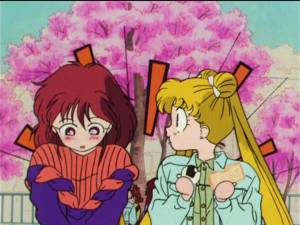 Japanese DVD screenshot - Sailor Moon R episode 51 - Natsumi and Usagi