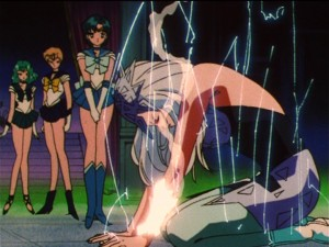 Sailor Moon S episode 122 - Viluy getting killed by nanobots