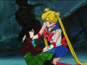 Sailor Moon S episode 124 - Sailor Moon and Evil Hotaru