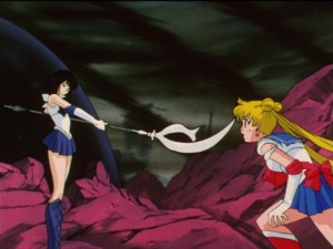 Sailor Moon S episode 125 - Sailor Saturn and Sailor Moon