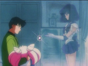Sailor Moon S episode 125 - Sailor Saturn returns Chibiusa's Pure Heart