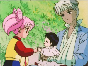 Sailor Moon S episode 126 - Chibiusa, Hotaru and Professor Tomoe