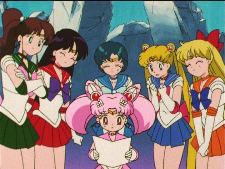 Sailor Moon S episode 127 - The Sailor Guardians read Chibiusa's letter from Neo Queen Serenity