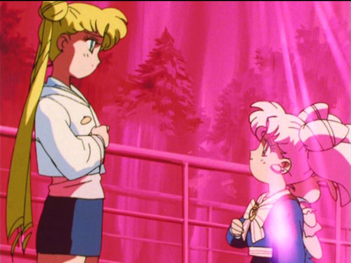 Sailor Moon S episode 127 - Usagi and Chibiusa say their goodbyes, again
