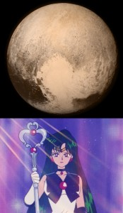 The heart on Pluto is Sailor Pluto's Garnet Orb