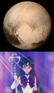 The heart on Pluto is Sailor Pluto's Garnet Orb