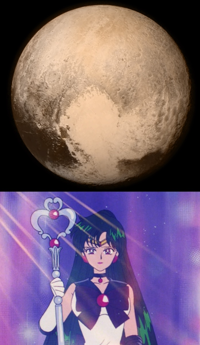 Pluto Has A Heart Love Him Back: The Heart On Pluto Is Sailor Pluto's Garnet Orb