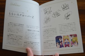 Sailor Moon Crystal Blu-Ray vol. 11 - Special Booklet - Pages 4 and 5 - Interview with Momoiro Clover Z