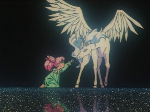 Sailor Moon SuperS episode 128 - Chibiusa and Pegasus