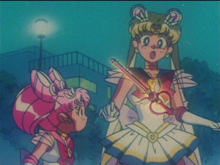 Sailor Moon SuperS episode 128 - Super Sailor Chibi Moon, Super Sailor Moon and the Kaleidomoon Scope