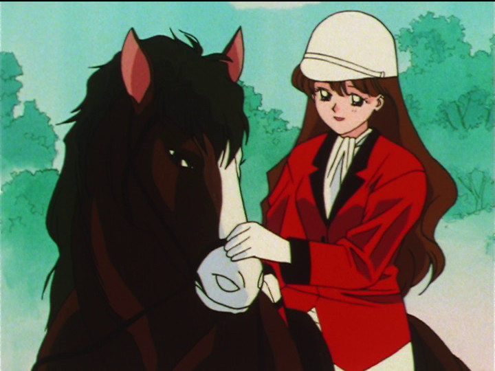 Sailor Moon SuperS episode 129 - Reika and her horse