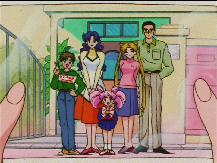 Sailor Moon SuperS episode 130 - The Tsukino family