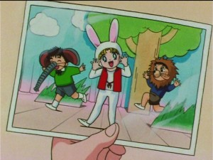 Sailor Moon SuperS episode 130 - Usagi the rabbit in a play