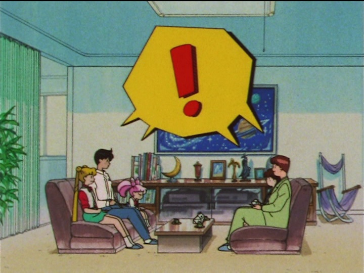 Sailor Moon SuperS episode 132 - Awkward conversation