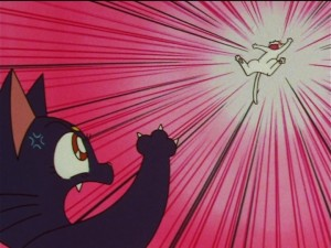 Sailor Moon SuperS episode 133 - Luna attacks Artemis