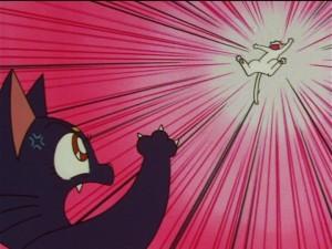 Sailor Moon SuperS episode 133 - Luna attacks Artemis