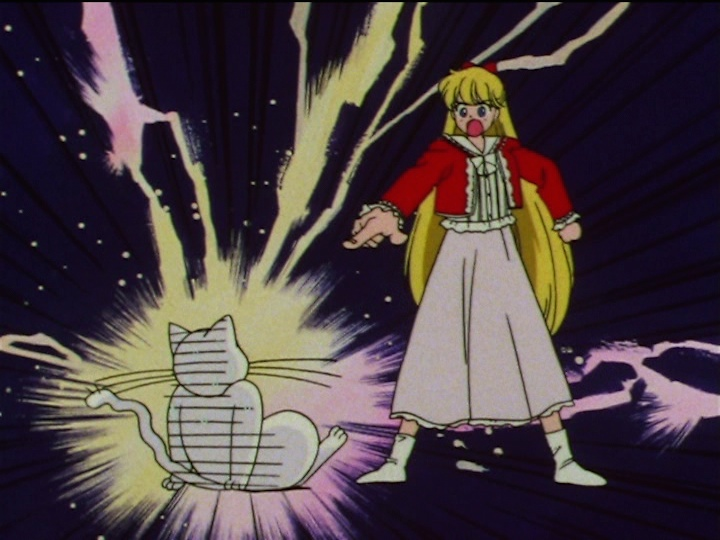 Sailor Moon SuperS episode 133 - Minako upset at Artemis