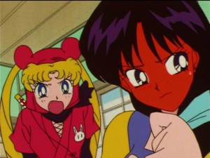 Sailor Moon SuperS episode 136 - Ninja Usagi is mad at Rei