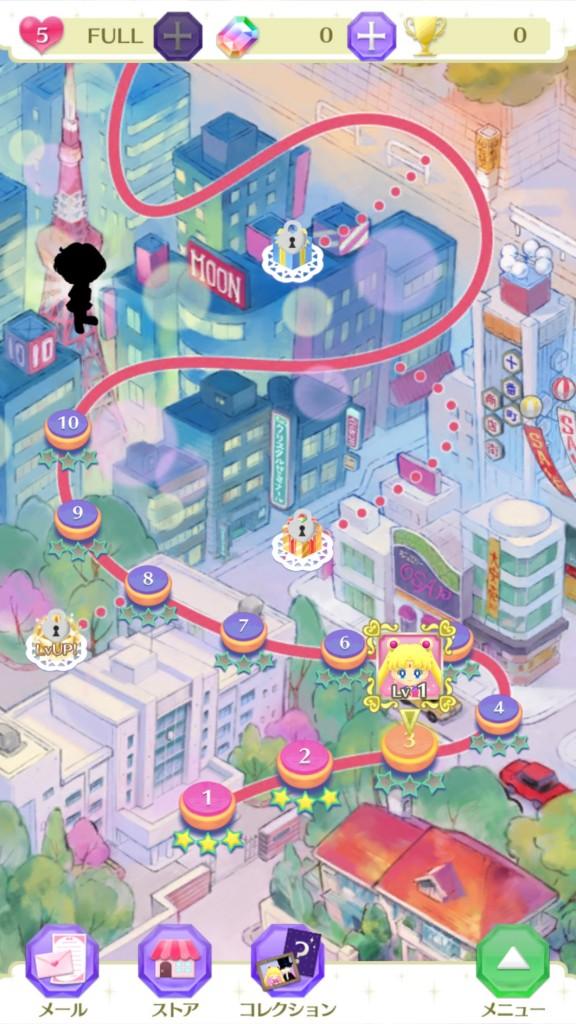 Sailor Moon Drops - Map
