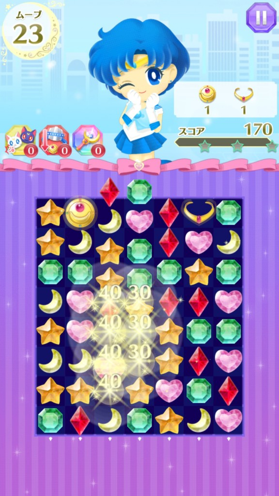 Sailor Moon Drops - Sailor Mercury Gameplay