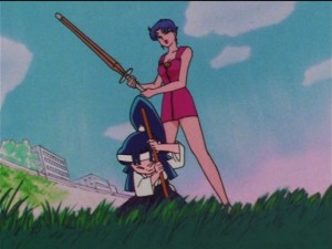 Sailor Moon SuperS episode 139 - Miharu gets beat by her mother