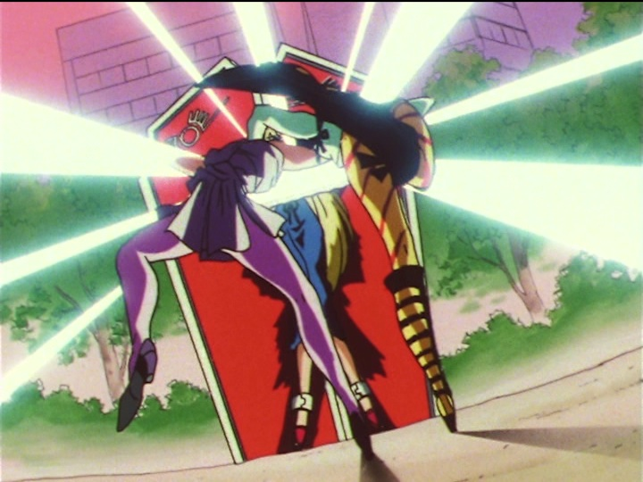 Sailor Moon SuperS episode 141 - Hawk's Eye and Tiger's Eye double penetrate Minako's Mirror of Dreams
